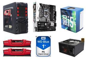 Intel Core i5-7500 LGA 1151 7th Gen Core Desktop Processor + WD Blue 1TB HDD + Logisys ATX Mid Tower Case + ASRock Motherboard + Rosewill 500W Power Supply + G.SKILL 8GB Memory Model