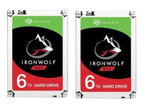 "2 x Seagate IronWolf 6TB NAS Hard Drive 7200 RPM 128MB Cache SATA 6.0Gb/s 3.5"" Internal Hard Drive ST6000VN0041"