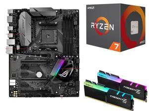AMD Ryzen 7 1700 3.0 GHz 8-Core AM4 Processor + G.SKILL TridentZ 16GB (2 x 8GB) Desktop Memory + ASUS ROG STRIX B350-F GAMING AM4 AMD Motherboard + G.SKILL TridentZ 16GB (2 x 8GB) Desktop Memory