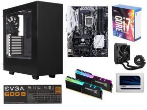 INTEL CORE I7 7700K 4.2G, G.SKILL TridentZ 16GB DDR4 3200, ASUS PRIME Z270-A, Crucial 525GB SSD, CORSAIR H50 Cooler, EVGA ...
