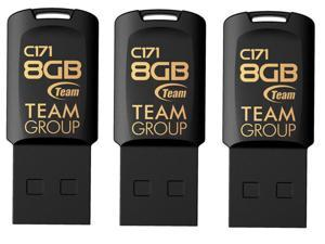 3 Pk. Team C171 8GB USB 2.0 Flash Drive