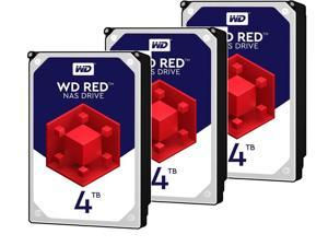 3 x WD Red 4TB NAS Hard Disk Drive - 5400 RPM Class SATA 6Gb/s 64MB Cache 3.5 Inch - WD40EFRX
