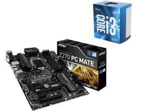 MSI Z270 PC MATE LGA 1151 Intel Z270 USB 3.1 ATX Motherboard + Intel Dual-Core i3-7100 Desktop Processor