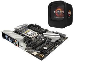 AMD RYZEN Threadripper 1950X 16-Core / 32 Threads 3.4 GHz Socket sTR4 180W YD195XA8AEWOF Desktop Processor, ASUS PRIME X399-A ...