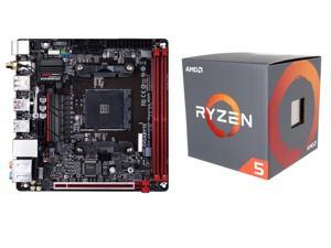 AMD RYZEN 5 1600 6-Core 3.2 GHz (3.6 GHz Turbo) Socket AM4 65W Processor, GIGABYTE GA-AB350N-Gaming WIFI (rev. 1.0) AM4 AMD ...