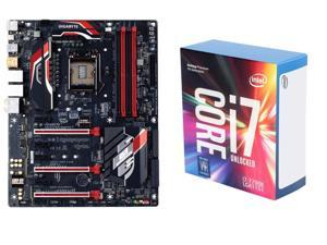 Intel Core i7-7700K Kaby Lake Quad-Core 4.2 GHz LGA 1151 91W Processor, GIGABYTE G1 Gaming GA-Z170X-Gaming 5 (rev. 1.0) LGA ...