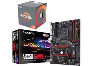 AMD Ryzen 5 1500X 3.5 GHz Quad-Core AM4 Desktop Processor + GIGABYTE AM4 AMD Motherboard