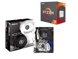 ASRock X370 Taichi AM4 AMD Promontory X370 SATA 6Gb/s USB 3.1 USB 3.0 ATX AMD Motherboard, AMD RYZEN 7 1800X 8-Core 3.6 GHz ...