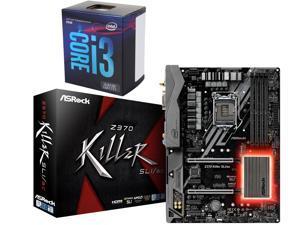 Intel Core i3-8100 3.6 GHz LGA 1151 (300 Series) BX80684I38100 Desktop Processor, ASRock Z370 Killer SLI/ac LGA 1151 (300 ...