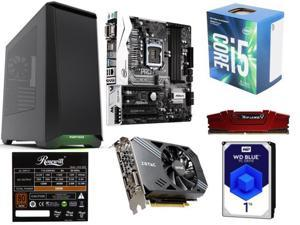 Intel Core i5-7400 3.0 GHz, ZOTAC GeForce GTX 1060, G.SKILL Ripjaws 8GB DDR4 2400, ASRock B250M Pro4 Micro ATX Motherboard, ...
