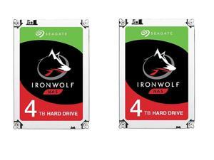 Combo (2x): Seagate IronWolf 4TB NAS Hard Drive 5900 RPM 64MB Cache SATA 6.0Gb/s 3.5 inch Internal Hard Drive ST4000VN008