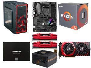 AMD RYZEN 5 1600 6-Core 3.2 GHz CPU, ASUS ROG STRIX B350-F GAMING AM4 MB, G.SKILL Ripjaws V Series 16GB DDR4 2400 MEM, SAMSUNG ...