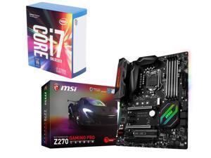 MSI Z270 GAMING PRO CARBON LGA 1151 Intel Z270 HDMI SATA 6Gb/s USB 3.1 ATX Intel Motherboard, Intel Core i7-7700K Kaby Lake ...