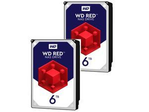 2 X WD Red 6TB NAS Hard Disk Drive - 5400 RPM Class SATA 6Gb/s 64MB Cache 3.5 Inch - WD60EFRX