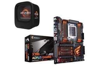 AMD RYZEN Threadripper 1900X 8-Core / 16 Threads 3.8 GHz Socket sTR4 180W YD190XA8AEWOF Desktop Processor, GIGABYTE X399 ...
