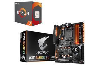 AMD RYZEN 7 1700X 8-Core 3.4 GHz (3.8 GHz Turbo) Socket AM4 95W YD170XBCAEWOF Desktop Processor, GIGABYTE AORUS GA-AX370-Gaming ...