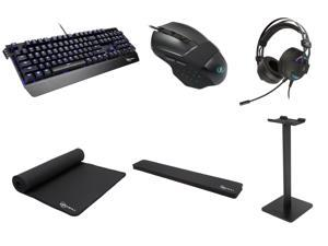 Rosewill Keyboard + Headset + Stand + Mouse with Pad + Wrist Rest