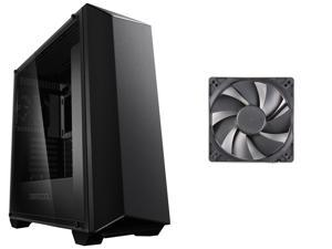 Deepcool EARLKASE RGB ATX / Micro ATX / Mini-ITX Mid Tower Computer Case Chassis (Black) + Rosewill Cooling Fan