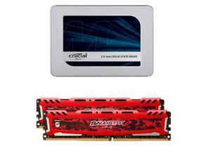 神价格!Crucial 500GB 固态+Ballistix 16G DDR4内存