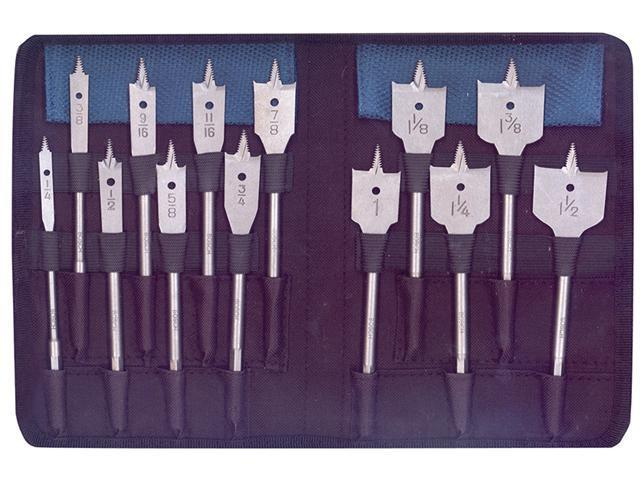 BOSCH 13 Piece Set RapidFeed™ Spade Drill Bits & Nylon Storage photo