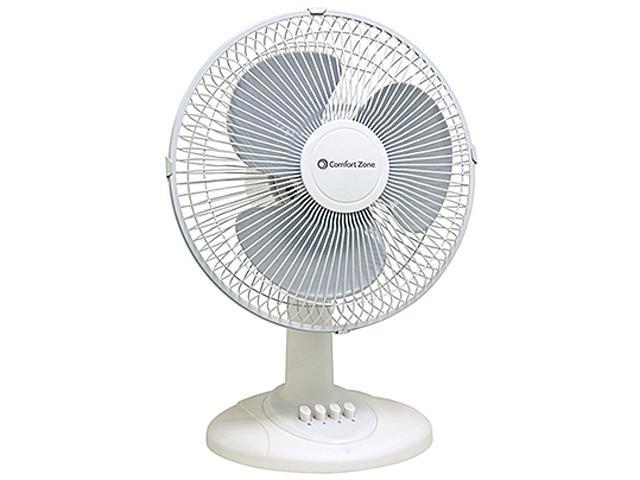 Comfort Zone Cz121 12 Quot 3 Speed Oscillating Table Fan