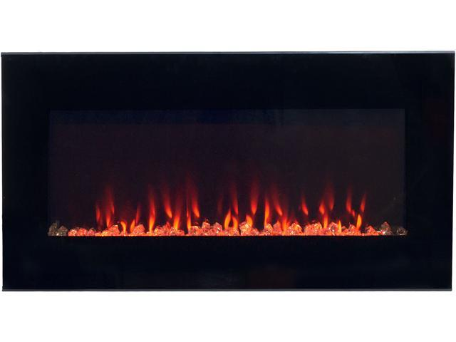 northwest led fire and ice electric fireplace heater with