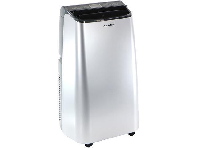 Amana AMAP101AW 10,000 BTU Portable Air Conditioner with Remote Control in Silver/Gray photo