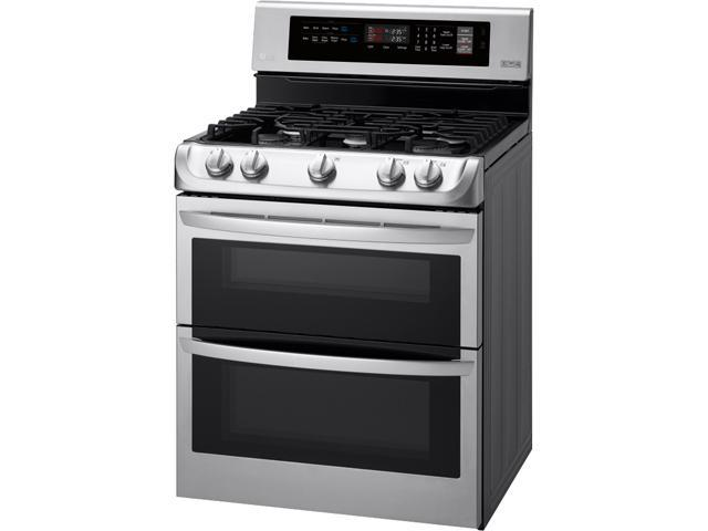 LG 6.9 cu. ft. Gas Double Oven Range with ProBake Convection® and EasyClean® LDG4311ST photo