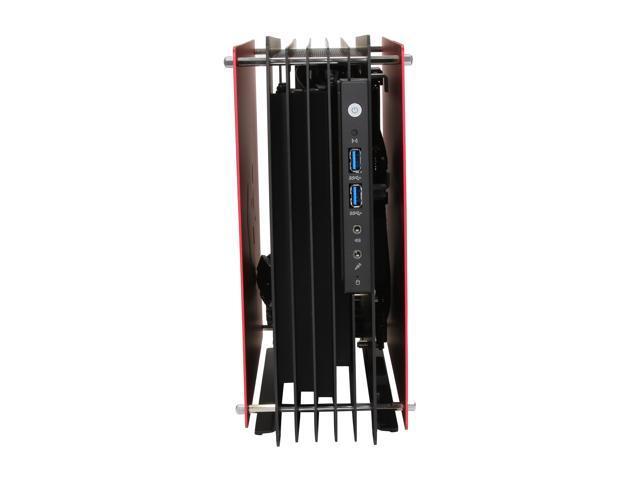 NeweggBusiness - IN WIN H-Frame Mini Red Aluminum Mini-ITX Computer ...