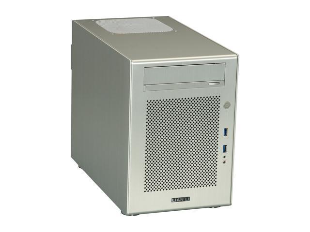 LIAN LI Silver Aluminum PC-Q18A Mini ITX Media Center / HTPC Case