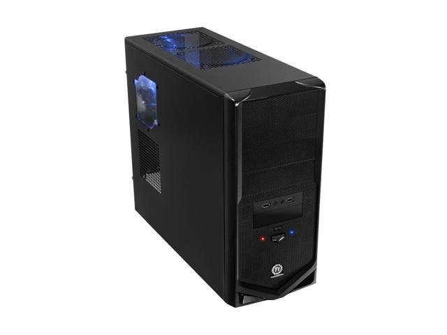 Thermaltake V4 Black Edition Gaming Chassis Mid Tower Steel Computer Case Fully Black Powdered Interior VM30001W2Z