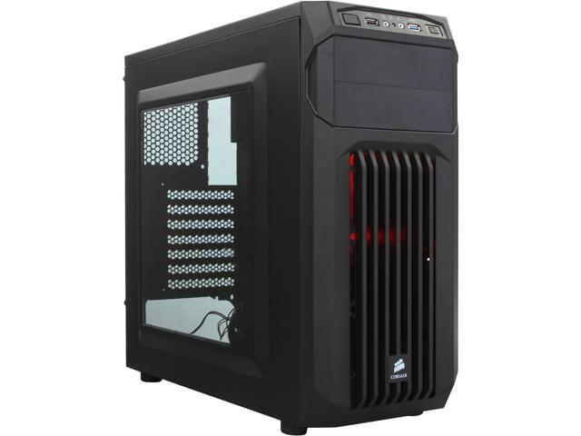 Corsair Carbide Series SPEC-01 RED LED Black ATX Mid Tower Gaming Computer Case ATX (not included) Power Supply