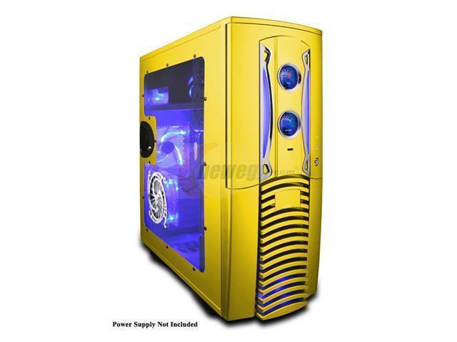 APEVIA X-PLEASURE-YL Yellow Aluminum ATX Full Tower Computer Case