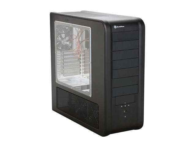 SilverStone Temjin Series TJ07-BW Black Aluminum ATX Full Tower Computer Case