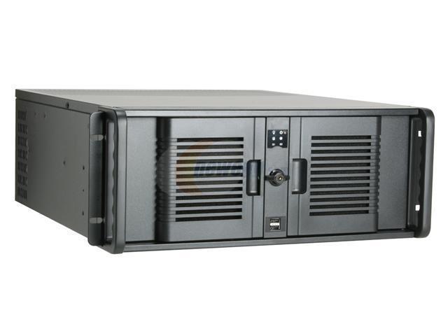 iStarUSA D-4-B350PL Black Steel Server Case