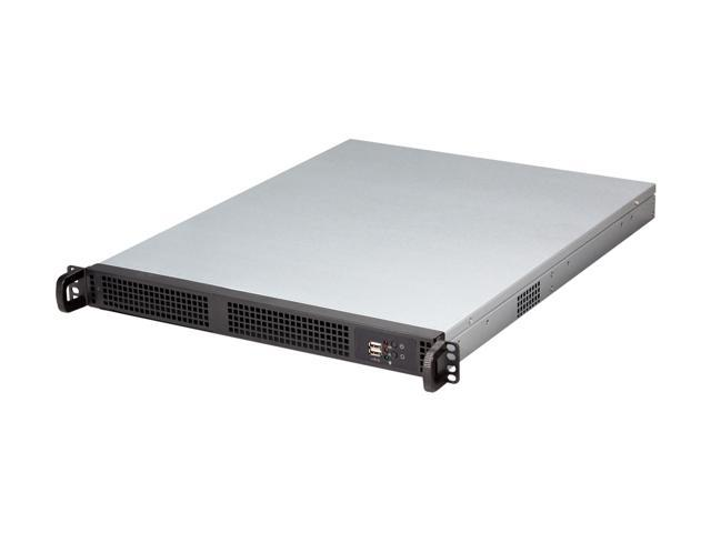 Athena Power RM-1U1210B30 Black 1.2mm Steel 1U Rackmount Server Chassis