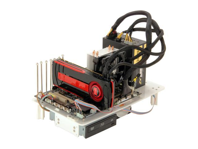 DIYPC Alpha-DB6-W White Bench Computer Case for ATX/Micro ATX motherboard