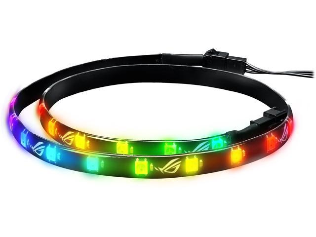 Neweggbusiness asus rog addressable rgb 5050 led 60cm lighting asus rog addressable rgb 5050 led 60cm lighting strip with magnetic backing and adhesive strips for aloadofball Gallery
