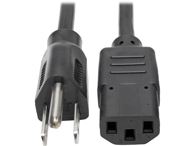 a1c38eab88d tripp lite 25ft computer power cord cable 5 15p to c13 10a 18awg 25 nema iec  320