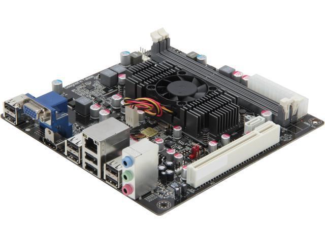 ECS HDC-I2/E-350D AMD E-350D APU AMD A45 FCH Mini ITX Motherboard/CPU Combo