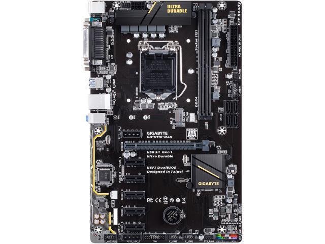 GIGABYTE GA-H110-D3A (rev. 1.0) LGA 1151 Intel H110 SATA ...