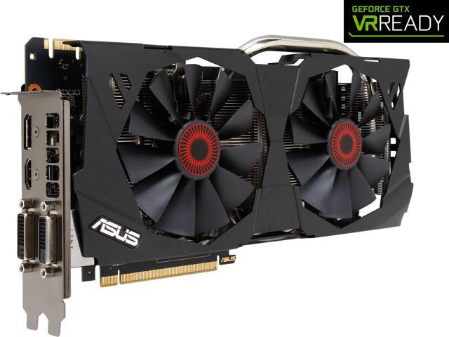 ASUS GeForce GTX 970 STRIX-GTX970-DC2OC-4GD5 4GB 256-Bit GDDR5 PCI Express 3.0 HDCP Ready SLI Support G-SYNC Support Video Card
