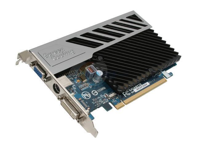 GIGABYTE Radeon HD 2400XT DirectX 10 GV-RX24T256H 256MB 64-Bit GDDR2 PCI Express x16 HDCP Ready Video Card