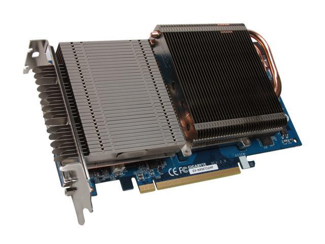 GIGABYTE GeForce 9600 GT DirectX 10 GV-NX96T1GHP 1GB 256-Bit GDDR3 PCI Express 2.0 x16 HDCP Ready SLI Support Video Card