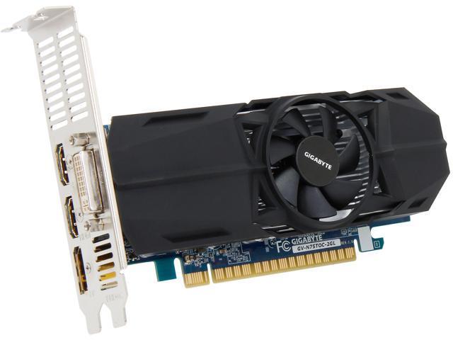 GIGABYTE GeForce GTX 750Ti 2GB LOW PROFILE OC EDITION
