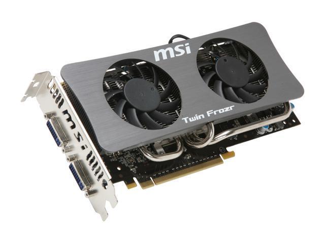 MSI GeForce GTS 250 DirectX 10 N250GTS TwinFrozr 1G OC 1GB 256-Bit GDDR3 PCI Express 2.0 x16 HDCP Ready SLI Support Video Card