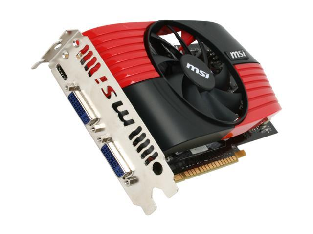 MSI GeForce GTS 450 (Fermi) DirectX 11 N450GTS-M2D1GD5/OC 1GB 128-Bit GDDR5 PCI Express 2.0 x16 HDCP Ready SLI Support Video Card