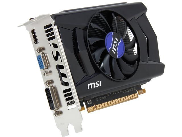 MSI GeForce GT 740 DirectX 12 N740-1GD5 1GB 128-Bit GDDR5 PCI Express 3.0 x16 HDCP Ready Video Card