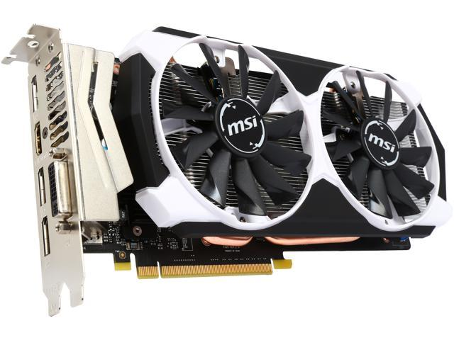MSI GeForce GTX 960 DirectX 12 GTX 960 2GD5T OC 2GB 128-Bit GDDR5 PCI Express 3.0 x16 HDCP Ready SLI Support ATX Video Card