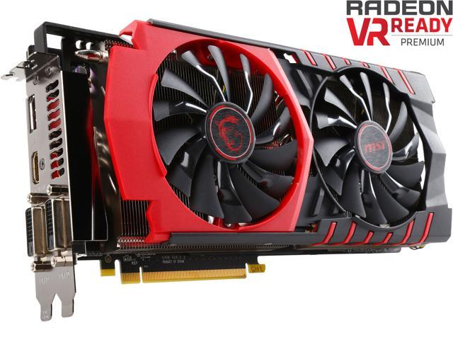 MSI Radeon R9 390X DirectX 12 R9 390X GAMING 8G 8GB 512-Bit GDDR5 PCI Express 3.0 HDCP Ready CrossFireX Support ATX Video Card